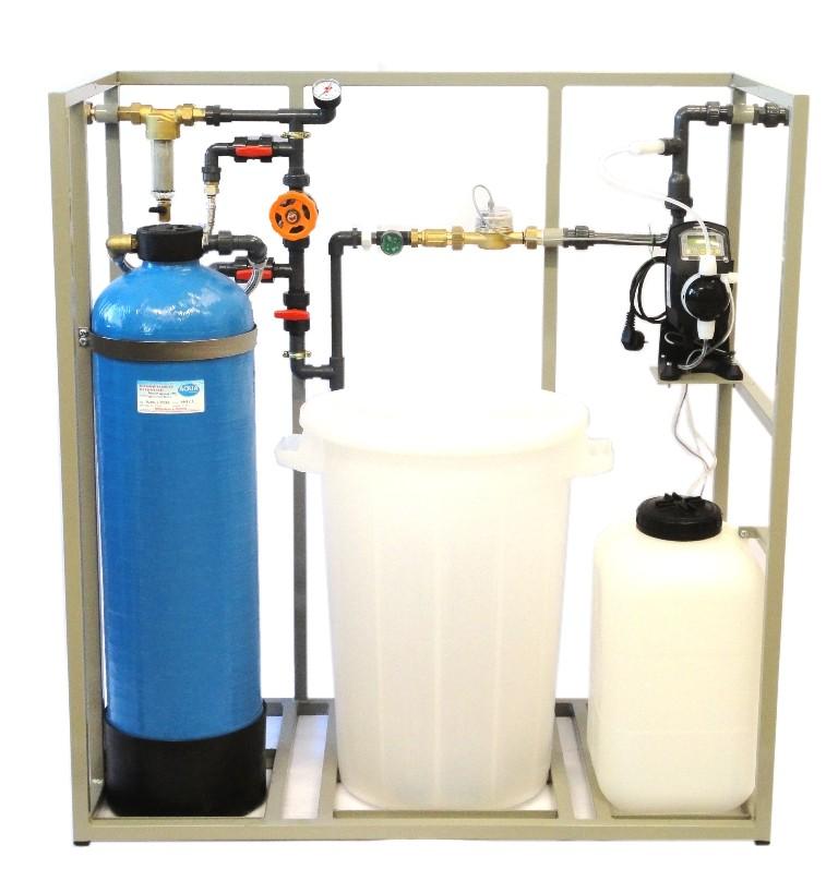 AUDKL automatické blokové úpravny vody s demikolonou a dávkovacím čerpadlem
