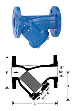 FY71P potrubní filtr z litiny