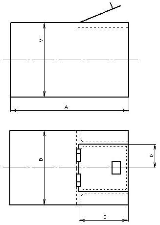 kondenzátní zásobní nádrž hranatá - schema