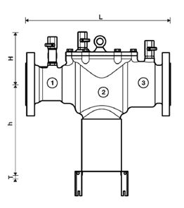 Potrubní oddělovač BA300 schema